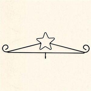 Wall Calendar Holder Hanger Hook Star In Black Metal Wire 4 5