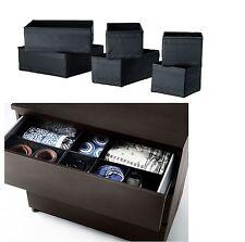 NEW Ikea Skubb Storage Box,drawer Organizer,divider BLACK WHITE Set of 6