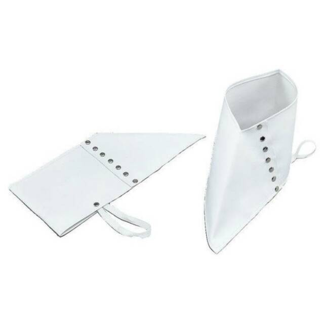 White Spats Shoe Covers Gangster 1920s Fancy Dress Costume Accessory