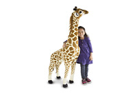 Giraffe Stuffed Animal Toy Giant Lifelike 121cm Sturdy Stand Up Cuddly Plush