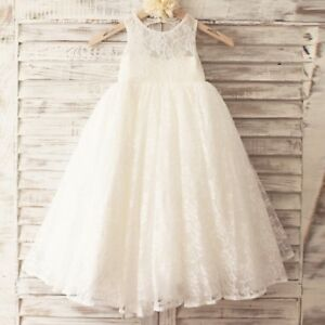 9772bde231 Princess Floor Length Flower Girl Dress Lace Tulle Sleeveless Scoop ...