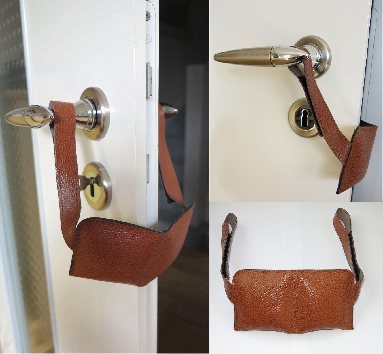 Leder-Türkissen-Tür-Kissen-Türstopper-Türpuffer-Kein lautes zuschlagen der Tür