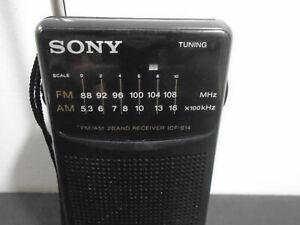 VINTAGE-SONY-FM-AM-ICF-S14-PORTABLE-RADIO