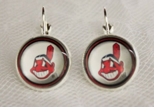 Cleveland Indians Earrings made from Baseball Trading Cards Great for Game Day