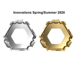 Brass Bail//Base for 4699 Kaleidoscope Hexagon Fancy Stones Crystals