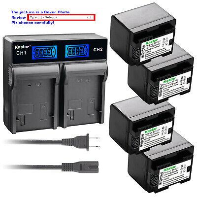 VIXIA HG21 VIXIA HF11 BP-809 XA10 HD Camcorder Kastar Battery Charger with Car Adapter Replacement for Canon BP-808 BP-819 BP-818 VIXIA HF10 VIXIA HG30 BP-827 Battery and Canon VIXIA HF20