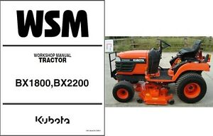 kubota bx1800 bx2200 compact tractor mower service repair workshop rh m ebay com kubota bx2200 manual kubota bx2200d manual