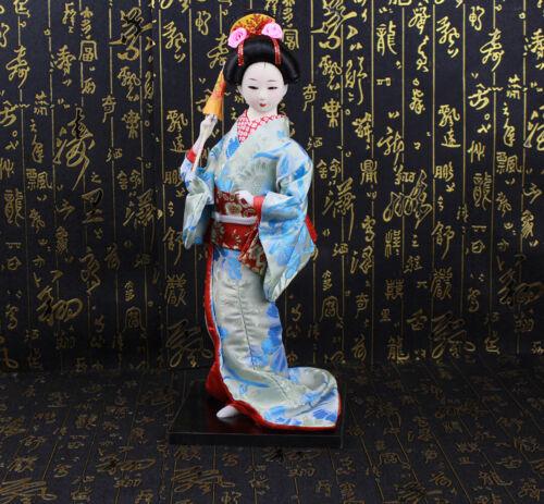 12/'/'Tall Japanese Geisha Kimono Satin Asian Doll Beauty Maiko Kabuki Figurine