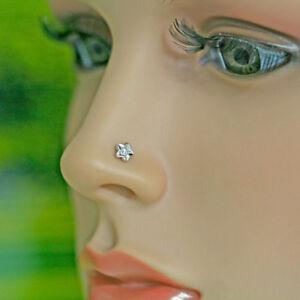 Flower Shape Real Diamond Gold Tragus Earring Nose Lip Piercing