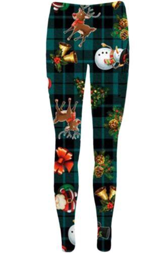 New Ladies Christmas Sleigh Santa Hat Tree Reindeer Jegging Womens Xmas Leggings