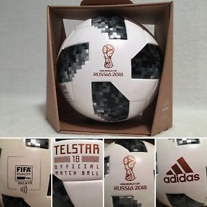Soccer FIFA World Cup 2018 Official Match Ball with NFC Chip Telstar ... 107452752bad6