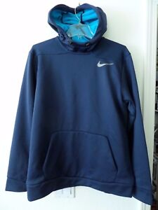 7351c3083513 Nike Therma-Sphere Pullover Training Men s Hoodie Therma-Fit Blue ...
