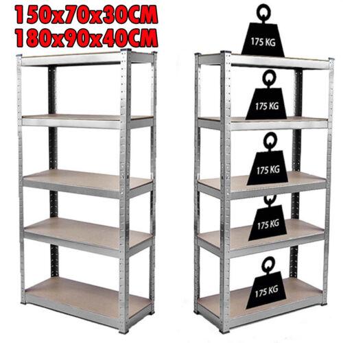 5 Tier Shelf Shelving Unit Racking Boltless Industrial Garage Storage Shelves