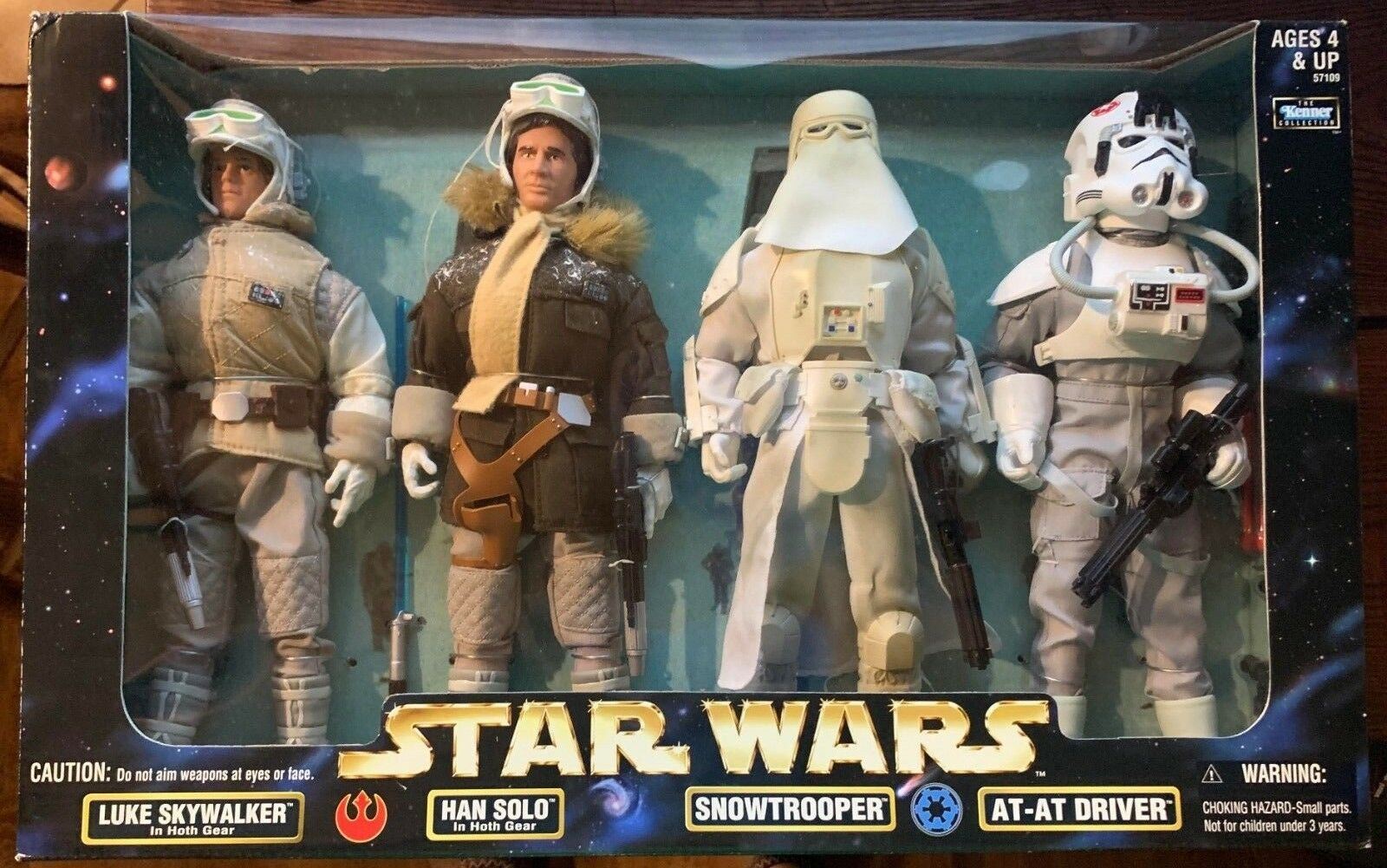 Star Wars Action Collection 12  Luke Skywalker in Hoth Gear Han Solo in Hoth NIP