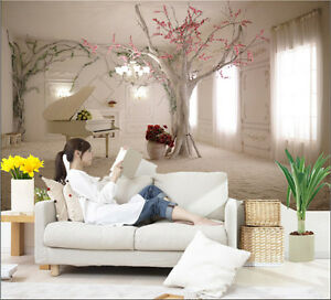 Details About Prepasted Mural Wallpaper Wall Covering Room Flower Tree Photo Wall Home Decor