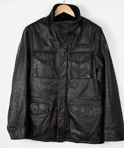STRELLSON-Men-Casual-Leather-Jacket-Overcoat-Size-50-M-ARZ26