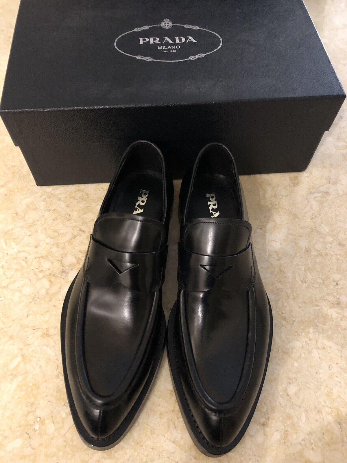 Zapatos Formales Cuero Negro PRADA MILANO BNWB