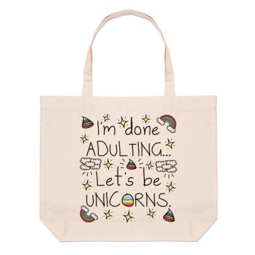 HO CHIUSO adulting cerchiamo di essere Unicorni Grandi Da Spiaggia Tote Bag-BARZELLETTA Divertente