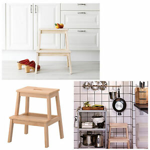Image Is Loading NEW IKEA Step Stool Retro Wooden Chair Ladder