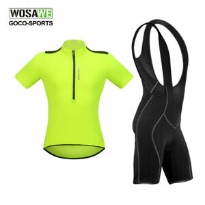 Cycling-Set-Jersey-Bib-Shorts-Padded-Anti-sweat-Short-Sleeve-Shirt-Bike-Bicycle