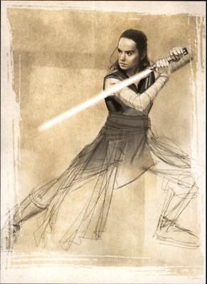 2017 Star Wars The Last Jedi Series One Illustrated  #SWI6  LUKE SKYWALKER