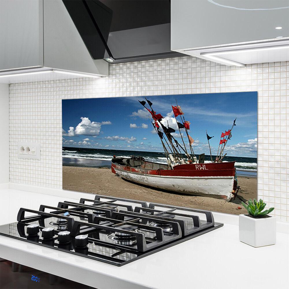 Crédence de cuisine en verre Panneau 120x60 Paysage Mer Plage Plage
