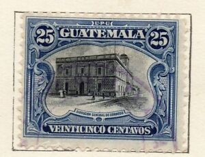 Image Is Loading Guatemala 1911 Early Issue Fine Used 25c 154657