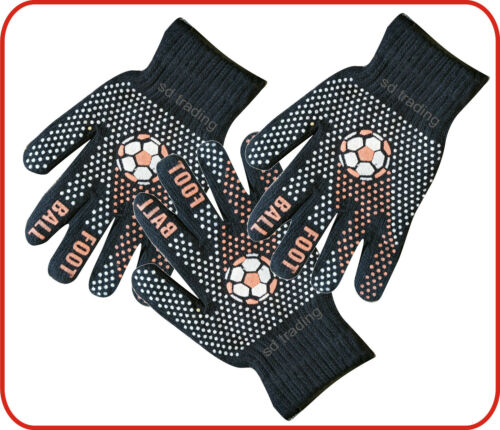 Foot Ball Winter Gripper Black Magic Gloves Unisex one size Wholesale 6,12,36,48