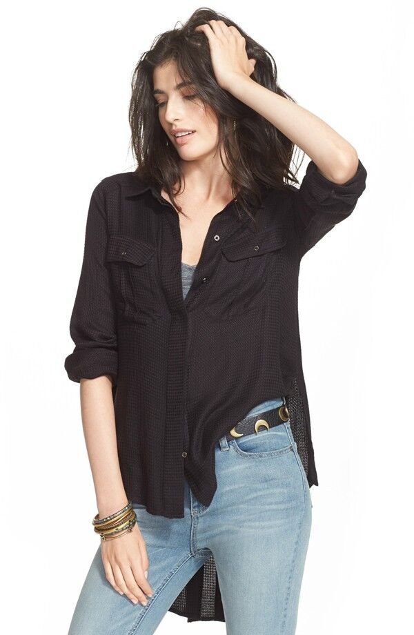 Neuf avec étiquettes Libre People  One of the guys'S Bouton Avant Chemise Retail  108