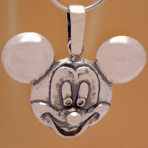 Awesome 925 Sterling Silver Marvelous Children Mickey Mouse Disney 3D Pendant