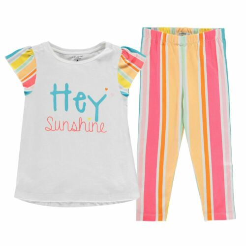 Crafted Kids Girls T Shirt and Leggings Set Infant Clothing Pants Trousers