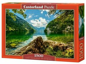 "Brand New Castorland Puzzle 1500 Lake Koenigsee in Germany 27"" x 17.5"" C-151417"