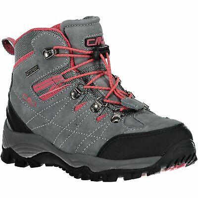 Cmp Trekking Scarpe Outdoorschuh Kids Arietis Trekking Shoes Wp Grigio Impermeabile-