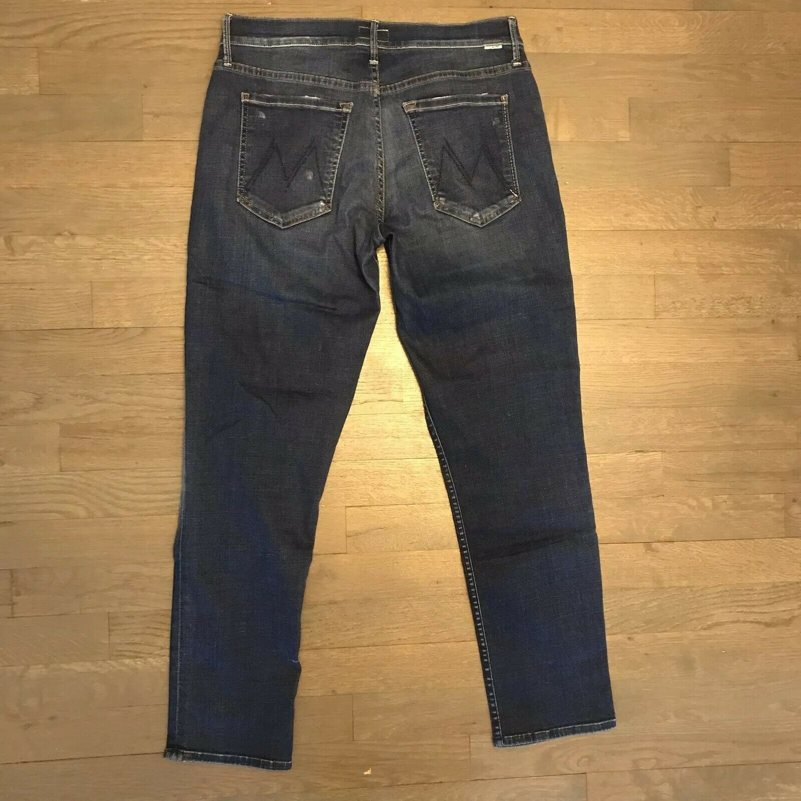 24260c7a Mother The Dropout Smoke And Mirrors Stretch Denim Jeans Woman's Size 26