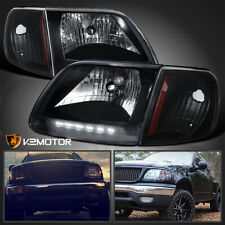 Fits Black 1997 2003 Ford F150 Expedition Led Drl Headlightssignal Corner Lamps Fits 1997 Ford F 150