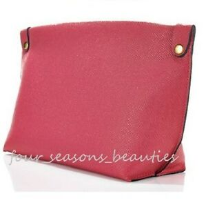 macy s pink faux leather makeup cosmetic purse clutch