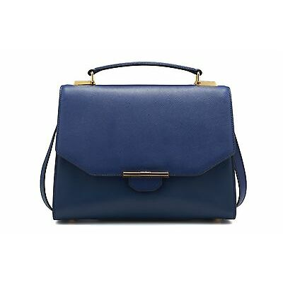 REVELRY | VIX TRAPEZE leather shoulder bag REGAL BLUE
