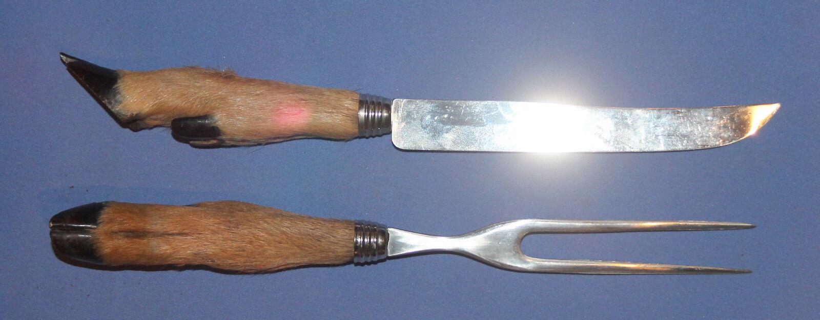Hand Made Serving Set Couteau et fourchette avec sabot Poignée