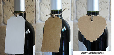 Confezione Da 10 Bianco Scalloped Tag & Stringa Card Making Nozze Segnaposto O Favori- Crease-Resistenza