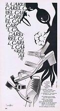 PUBLICITE ADVERTISING 015 1968 CAREL chaussures dame par Langlais