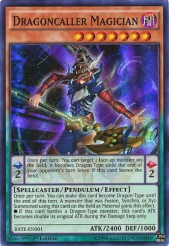 Dragoncaller Magician - RATE-EN001 - Super Rare - 1st Edition - Yugioh