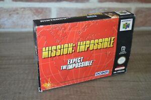 Jeu Mission Impossible en boite console Nintendo 64 N64 version PAL français FRA