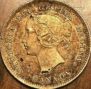 1899-CANADA-SILVER-5-CENTS-COIN-Fantastic-toned-example