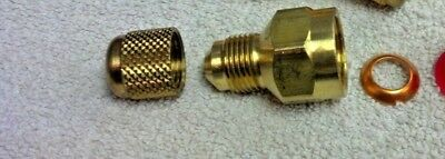 """Yellow Jacket Ritchie Vacuum Pump Adapter 1//2/""""FM x 3//8 Male Flare Part# 19131"""