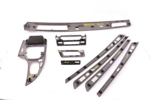 * BMW 5 Série E60 E61 LCI Set Decor Strip Dash Trim Cover Spacegrau Espace Gris