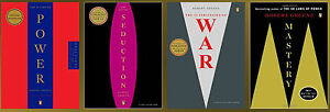 ROBERT-GREENE-LARGE-TRADE-Paperback-Set-of-4-POWER-SEDUCTION-WAR-MASTERY