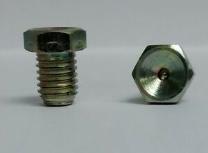 M6 x 1 mm Flush Metric Straight Grease Zerk Nipple Fitting 2 Pcs