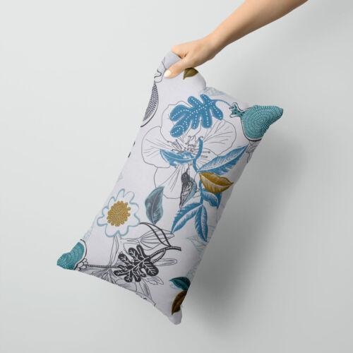 Pillow Case Petals Bird White Blue Khaki Various Sizes Beautiful Life