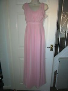 BNWT-UK-8-LIPSY-Maxi-Dress-Pastel-Pink-Colour-Sleeveless-Prom-Bridesmaid-Formal
