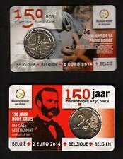 BELGIË - 2014 - 150 JAAR RODE KRUIS - 2 €  - COIN CARD